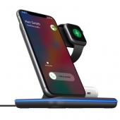 Gelius Pro Wireless Charger 3in1 15W GP-AWC01, Black