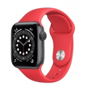Apple Watch Series 6 40mm GPS Space Gray Aluminum Case with (PRODUCT) RED Sport Band