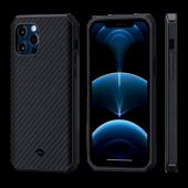 Pitaka MagEZ Case Pro 2 for iPhone 12 Pro, Twill Black/Grey (KI1201PP)