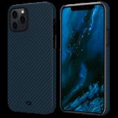 Pitaka MagEZ Case for iPhone 12 Pro Max, Twill Black/Blue (KI1208PM)