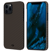 Pitaka MagEZ Case for iPhone 12 Pro Max, Twill Black/Rose Gold (KI1206PM)