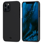 Pitaka MagEZ Case for iPhone 12 Pro Max, Plain Black/Grey (KI1202PM)