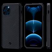 Pitaka MagEZ Case Pro 2 for iPhone 12 Pro Max, Twill Black/Grey (KI1201PMP)