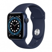 Apple Watch Series 6 44mm GPS + LTE Blue Aluminum Case with Deep Navy Sport Band (M07J3)