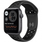 Apple Watch Nike SE GPS + Cellular 44mm Space Gray Aluminum Case w. Anthracite/Black Nike Sport B. (MG063)