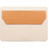 "Moshi Muse 13"" 3-in-1 Slim Laptop Sleeve for MacBook Pro 13""/MacBook Air 13"" Retina, Seashell White (99MO034101)"