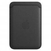 Apple Leather Wallet with MagSafe Black (MHLR3)