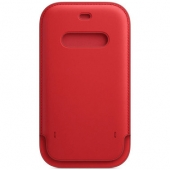 Apple Leather Sleeve for iPhone 12 Pro Max, Scarlet (MHYJ3)