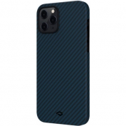 Pitaka MagEZ Case for iPhone 12 Pro, Twill Black/Blue (KI1208P)