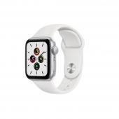 Apple Watch SE 40mm GPS Silver Aluminum Case with White Sport Band (MYDM2)