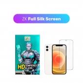 Защитное 3D стекло ZK Protection Glass for iPhone 12 Mini Full Silk Screen 0.26mm + Back Film, Black