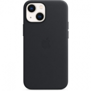 Apple Leather Case for iPhone 13 Mini, Midnight (MM0M3)