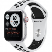 Apple Watch Nike SE GPS + Cellular 40mm Silver Aluminum Case w. Pure Platinum/Black Nike Sport B. (MYYR2)