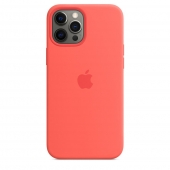 Apple Silicone Case with MagSafe for iPhone 12 Pro Max, Pink Citrus 1:1