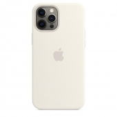 Apple Silicone Case with MagSafe for iPhone 12 Pro Max, White 1:1
