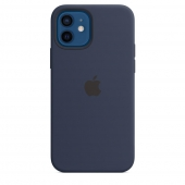 Apple Silicone Case with MagSafe for iPhone 12/12 Pro, Deep Navy 1:1