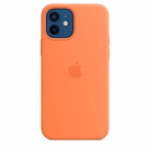 Apple Silicone Case with MagSafe for iPhone 12/12 Pro, Kumquat 1:1