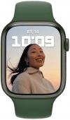 Apple Watch Series 7 41mm Green Aluminum Case with Clover Sport Band MKN03UL/A