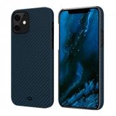 Pitaka MagEZ Case for iPhone 12 Mini, Twill Black/Blue (KI1208)
