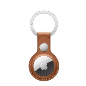 Apple AirTag Leather Key Ring Saddle Brown (MX4M2)