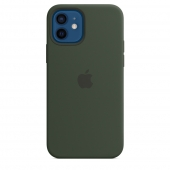 Apple Silicone Case with MagSafe for iPhone 12/12 Pro, Cyprus Green 1:1