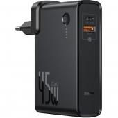 Baseus Power Station(GaN) 2in1 Q.C. PowerBank&Charger Type C+USB 10000mAh /45W, Black