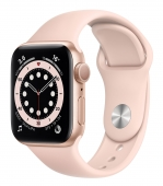 Apple Watch Series 6 40mm GPS Gold Aluminum Case with Pink Sand Sport Band (MG123) (O_B)