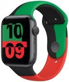 Apple Watch Series 6 GPS 40mm Space Grey Aluminium with Black Unity Sport Band (MJ6N3)