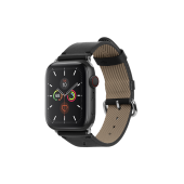 Native Union Classic Strap for Apple Watch 42mm/44mm, Black (STRAP-AW-L-BLK)