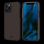 Pitaka MagEZ Case for iPhone 12 Pro, Twill Black/Rose Gold (KI1206P)