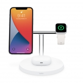 Док-станция Belkin BOOST CHARGE PRO 3-in-1 Wireless Charger with MagSafe White (WIZ009vfWH)