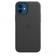Apple Leather Case with MagSafe for iPhone 12 | 12 Pro, Black (MHKG3)