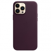 Apple Leather Case with MagSafe for iPhone 13 Pro Max, Dark Cherry (MM1M3)