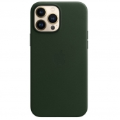 Apple Leather Case with MagSafe for iPhone 13 Pro Max, Sequoia Green (MM1Q3)