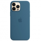 Apple Silicone Case with MagSafe for iPhone 13 Pro Max, Blue Jay (MM2Q3)