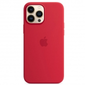 Apple Silicone Case with MagSafe for iPhone 13 Pro Max, (PRODUCT)RED (MM2V3)