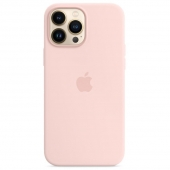 Apple Silicone Case with MagSafe for iPhone 13 Pro Max, Chalk Pink (MM2R3)