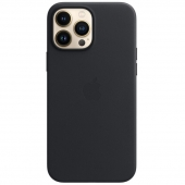 Apple Leather Case with MagSafe for iPhone 13 Pro Max, Midnight (MM1R3)