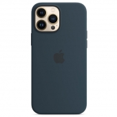 Apple Silicone Case with MagSafe for iPhone 13 Pro Max, Abyss Blue (MM2T3)