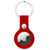 Apple Leather Key Ring for AirTag, Red OEM