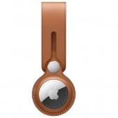 Apple Leather Loop for AirTag, Saddle Brown OEM