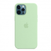 Apple Silicone Case with MagSafe for iPhone 12 Pro Max, Pistachio (MK053)