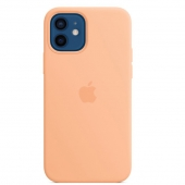 Apple Silicone Case with MagSafe for iPhone 12   12 Pro , Cantaloupe (MK023)