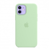 Apple Silicone Case with MagSafe for iPhone 12   12 Pro, Pistachio (MK003)
