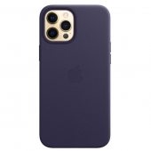 Apple Leather Case with MagSafe for iPhone 12 Pro Max, Deep Violet (MJYT3)