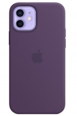 Apple Silicone Case with MagSafe for iPhone 12   12 Pro , Amethyst (MK033)