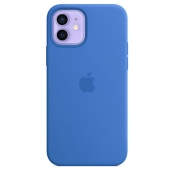 Apple Silicone Case with MagSafe for iPhone 12 | 12 Pro, Caprie Blue (MJYY3)