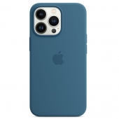 Apple Silicone Case with MagSafe for iPhone 13 Pro, Blue Jay (MM2G3)