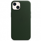 Apple Leather Case with MagSafe for iPhone 13, Sequoia Green (MM173)