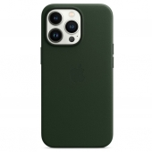 Apple Leather Case with MagSafe for iPhone 13 Pro, Sequoia Green (MM1G3)